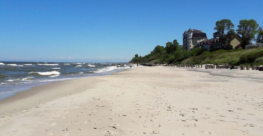 Западный пляж в Зеленоградске