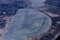 Вид на зимнее озеро Иван из окна самолета