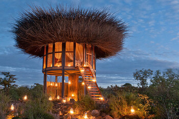 В Кении открылся отель в виде гнезда гигантской птицы