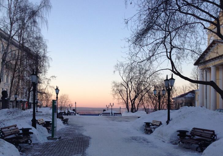 Вид на закат с Соборнойй площади