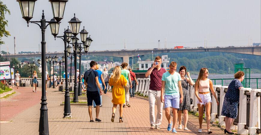 Волжская набережная<br/> в Костроме