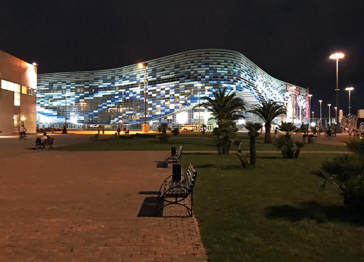 Олимпийский парк вечером
