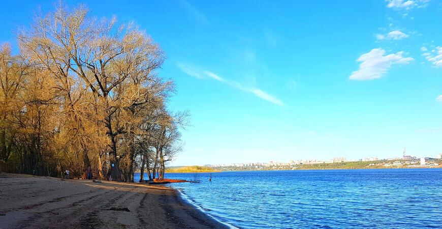 Остров Рождественский (Зеленая роща) в Самаре