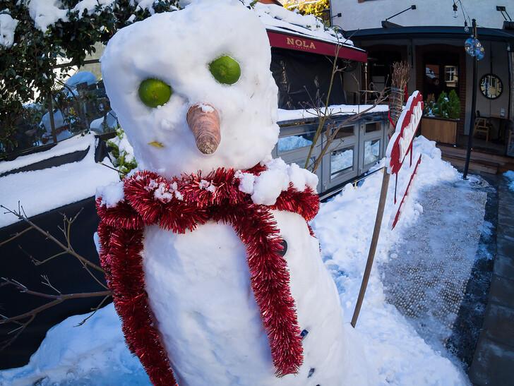Снеговик на улицах Стамбула