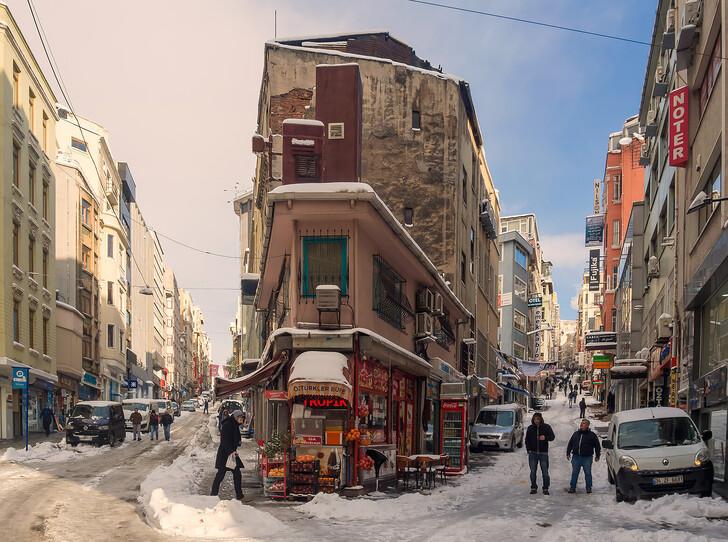 Снег в Стамбуле
