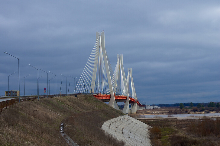 Муромский вантовый мост через Оку