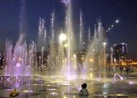Пермь. Танцующие фонтаны