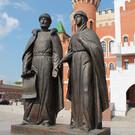Памятник-фонтан Петру и Февронии в Йошкар-Оле
