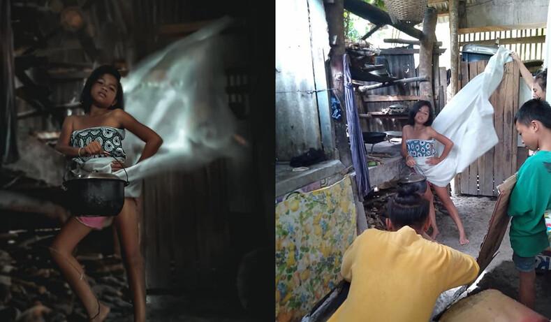 Филиппинец сделал фотографии, как в глянцевых журналах, не потратив ни единого песо: посмотрите, как это было снято на самом деле