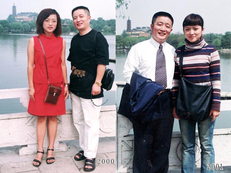 Отец фотографируется с дочерью на одном и том же месте 40 лет