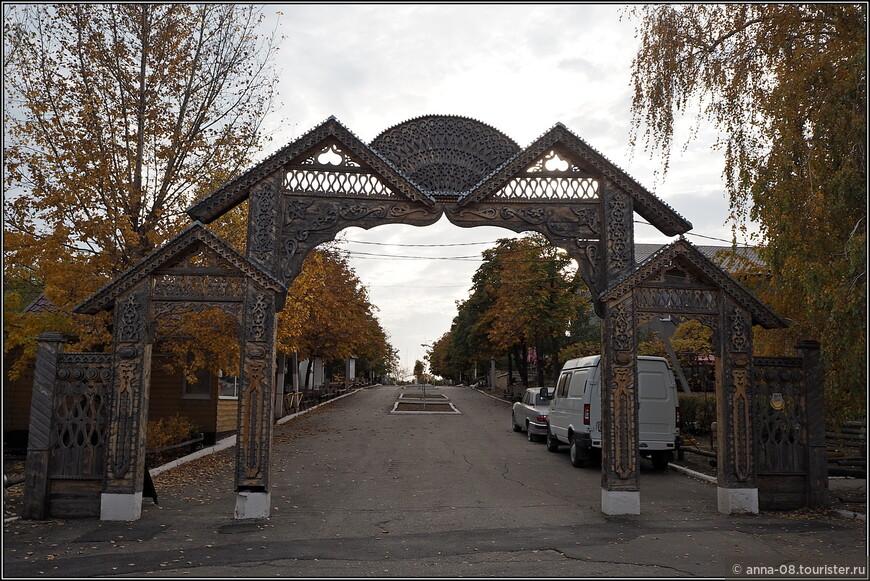 Рыжая осень в саратовском Парке Победы