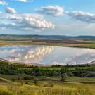 Соленое озеро Лушниковское в Ставропольском крае