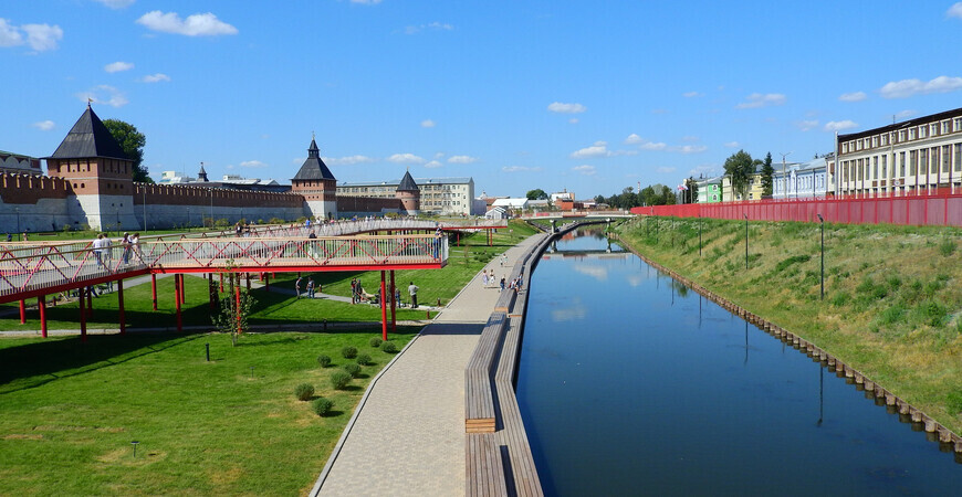 Казанская набережная в Туле