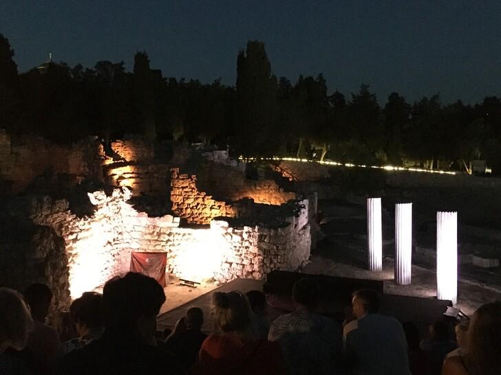 Спектакль в античном театре Херсонеса