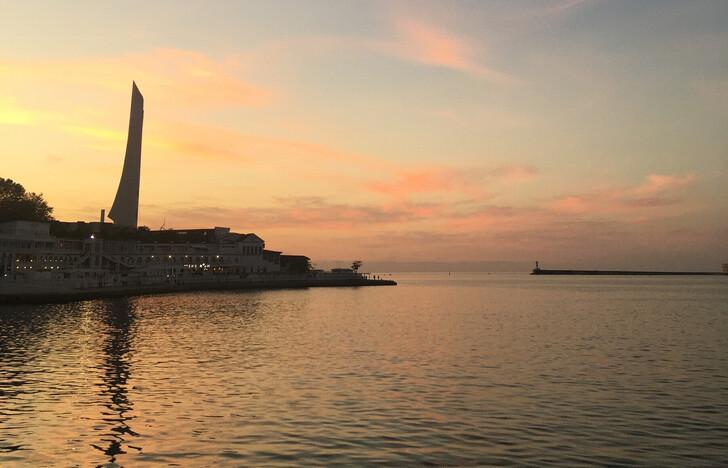 Закат с набережной Севастополя