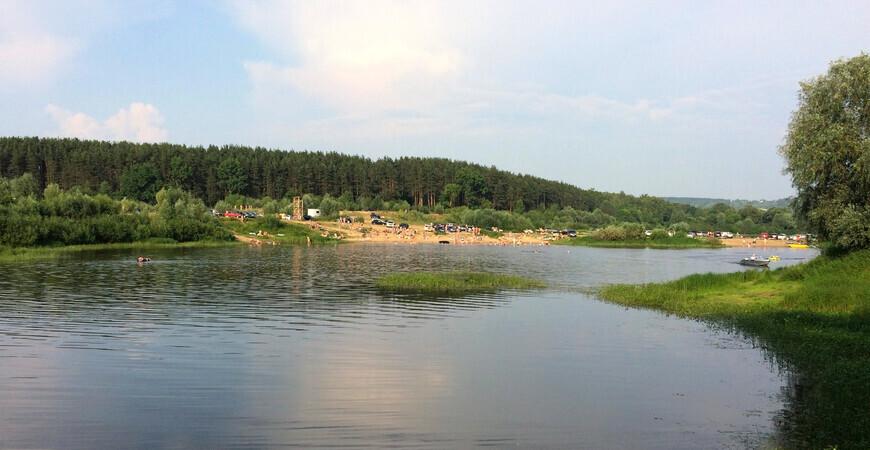 Пляж Стригино </br> в Стригинском бору