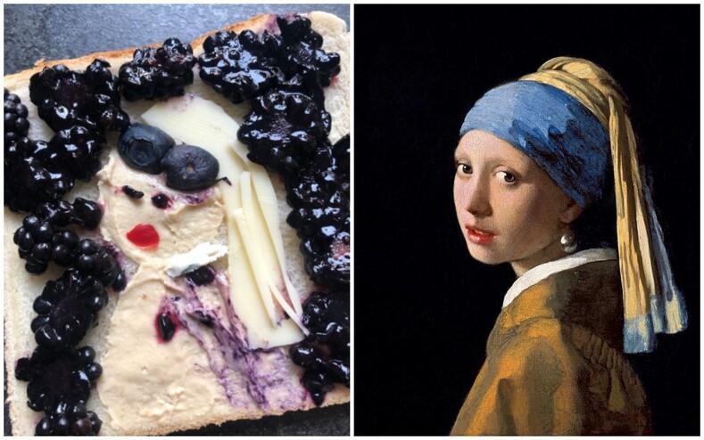 Картины известных художников из ветчины и сыра: пользователи поделились фото бутербродов, которые они приготовили на завтрак, и это настоящая фуд-галерея