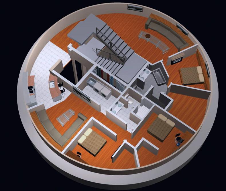 15-этажный дом в бункере: фото убежища за 3 миллиона долларов, где можно прожить безвылазно пять лет