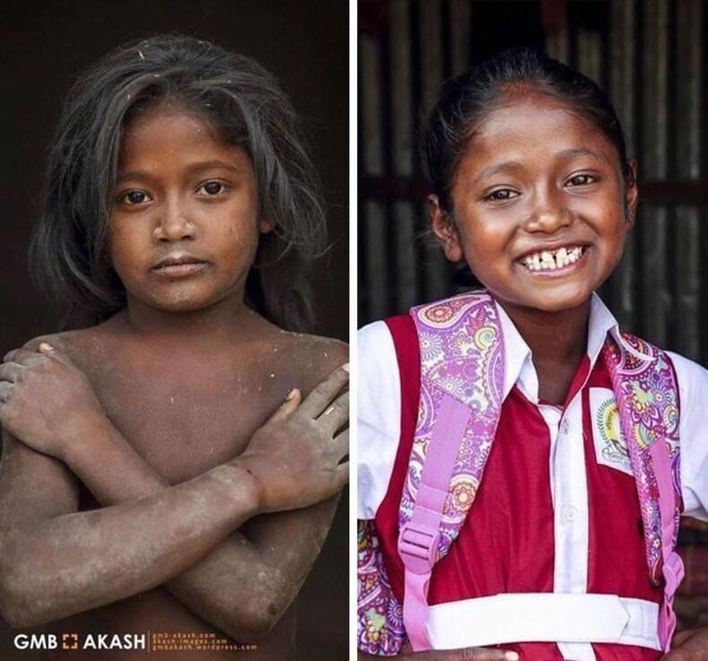 Как изменились лица мальчиков и девочек, которые смогли пойти в школу фотограф оплатил обучение 20 детей из трущоб