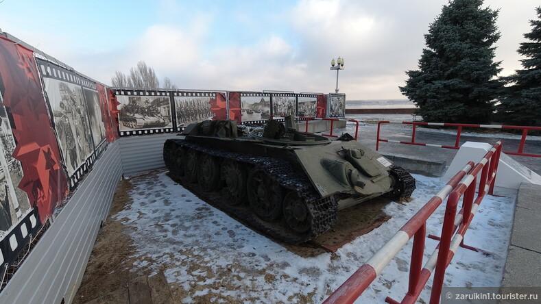 Танк с оторванной башней в Волгограде