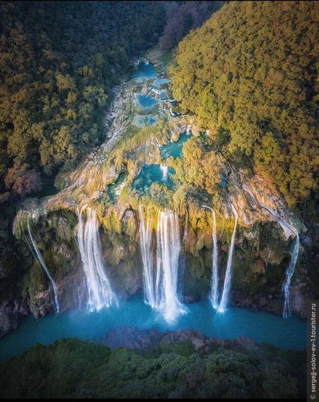 Водопад Тамул (Cascada de Tamul) - расположенный в Мексике, в штате Сан-Луис-Потоси