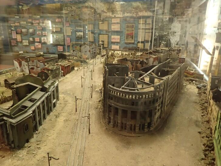 Макета разрушенного в войну Воронежа в музее «Арсенал»