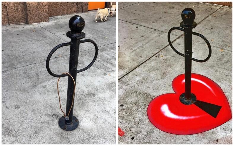 Уличный художник нашел способ борьбы с серостью кварталов: снимки о превращении городских несовершенств в настоящие арт-объекты