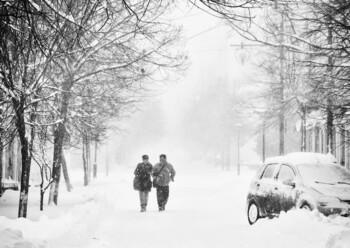 В Крыму введён режим угрозы ЧС из-за снегопада