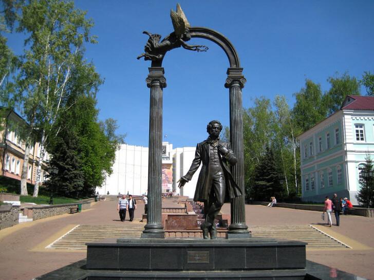 А.С. Пушкин на Фонтанном спуске