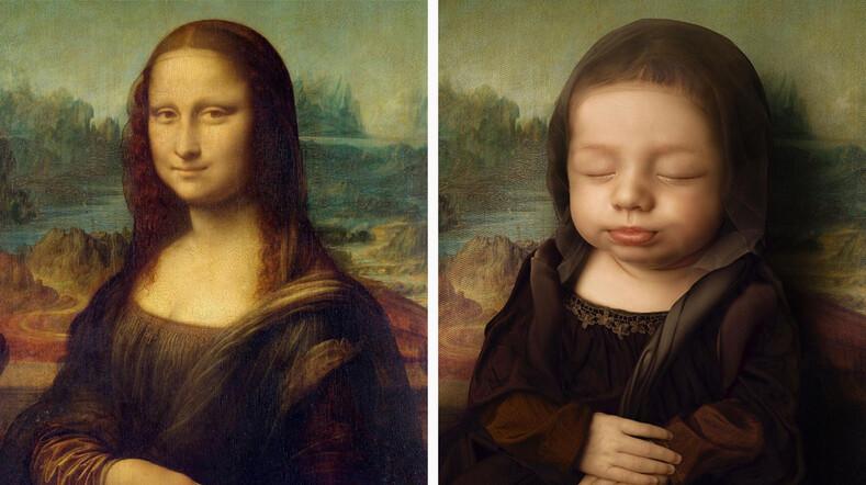 Ваш ребенок - произведение искусства молодой папа из Бразилии устроил фотосессию для новорожденной дочери в образах женщин с картин великих художников