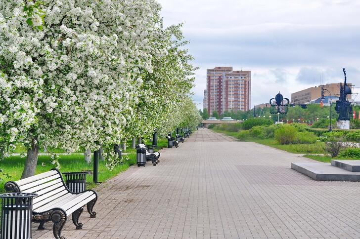 Линия скверов в Автозаводском районе