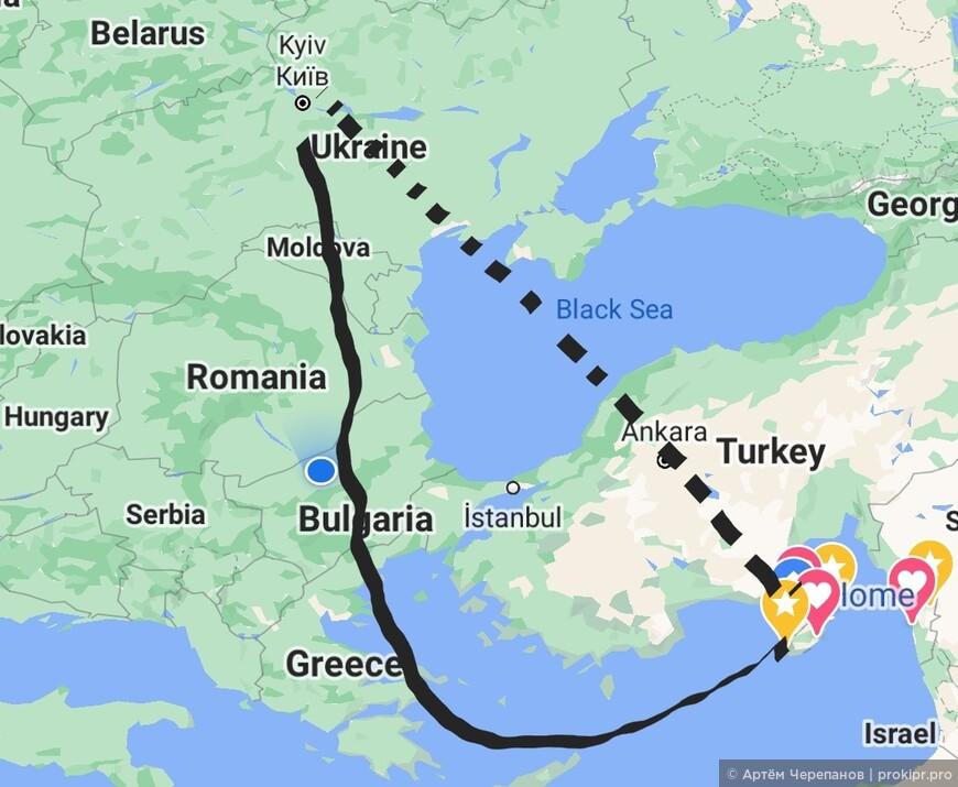 Почему самолёты Кипрских авиалиний делают крюк в 1000 километров при полётах в Россию