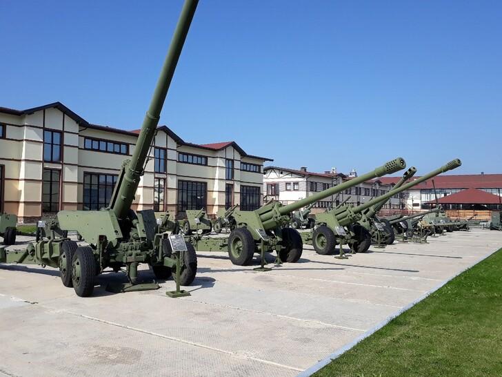 Открытая часть выставки Музея отечественной военной истории