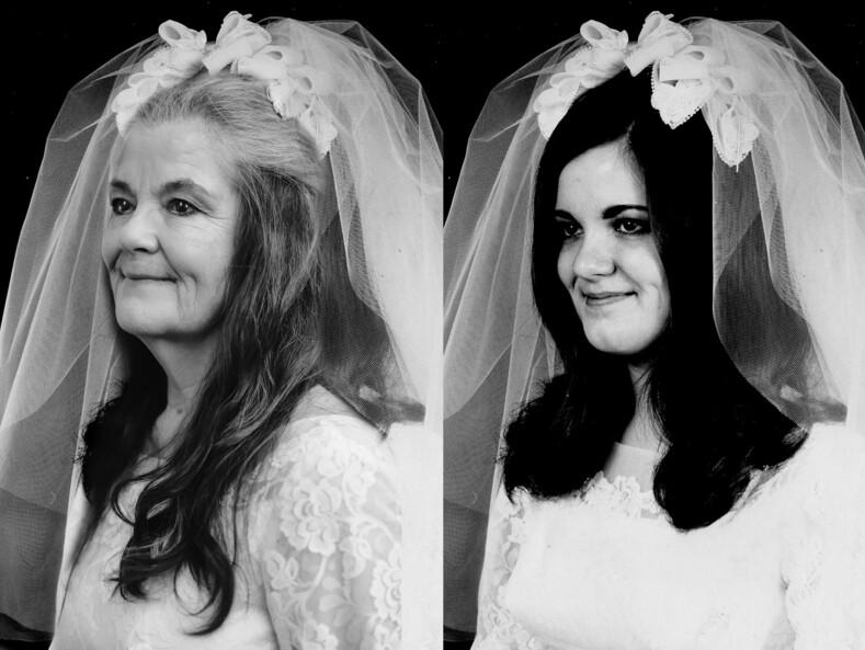 Пара повторила свадебные фото, сделанные полвека назад 9 прекрасных снимков с разницей в 50 лет, доказывающих, что у любви нет срока годности