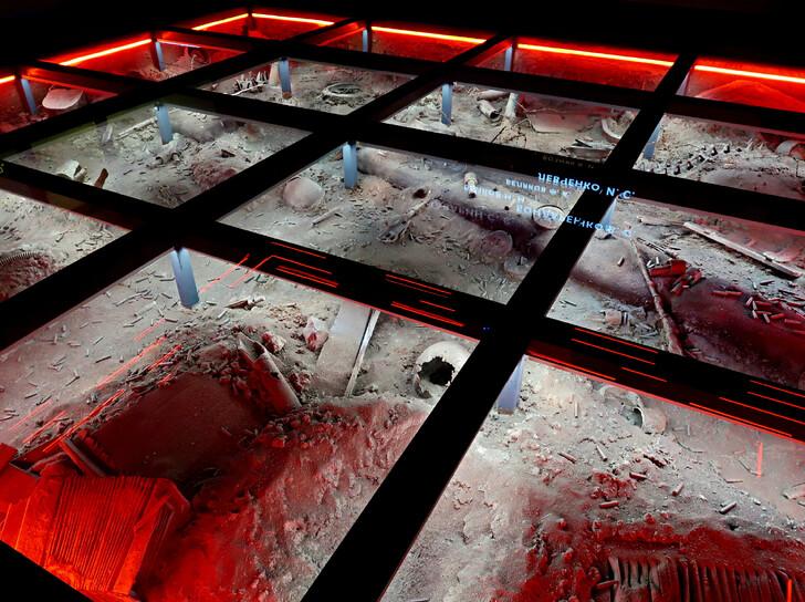 Экспозиция в музее мемориала Советскому солдату