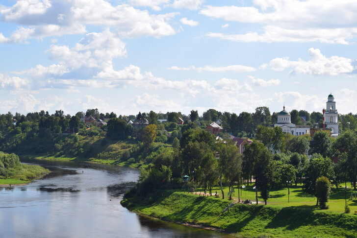 Панорама города с Соборной горы, вид на Оковецкий собор