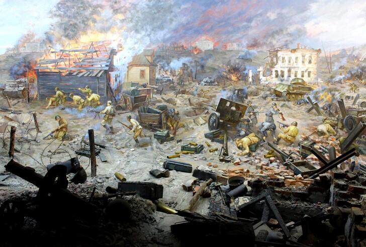 Диорама «Бой за Ржев 24 сентября 1942 г.» в Музее военной истории города
