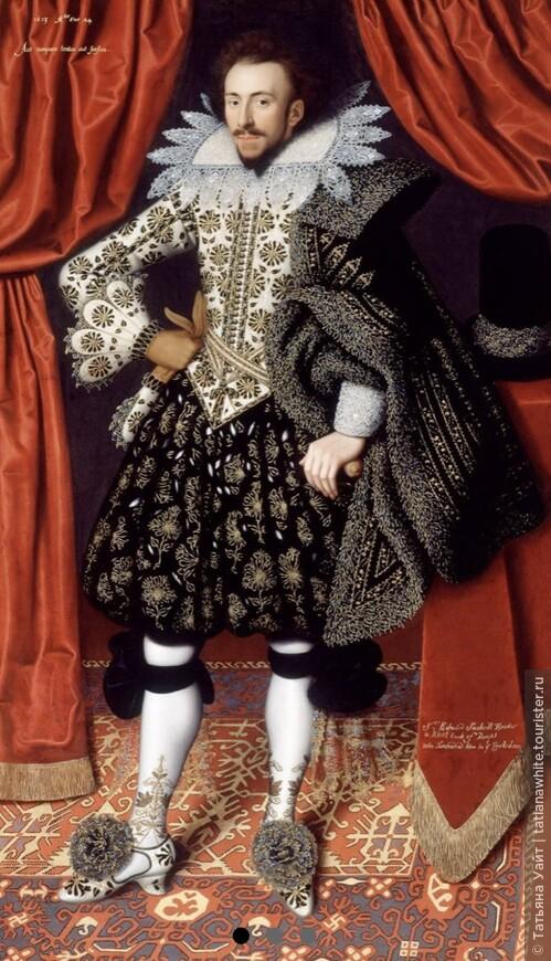Мужской Костюм английских модников-франтов эпохи Ренессанса.