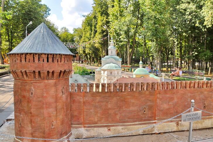 Макет города в Лопатинском саду
