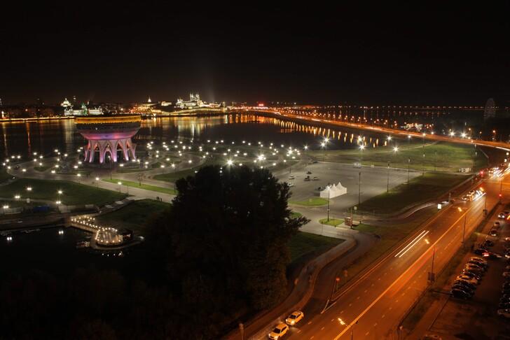 Вид на центр из апартаментов в Козьей слободе