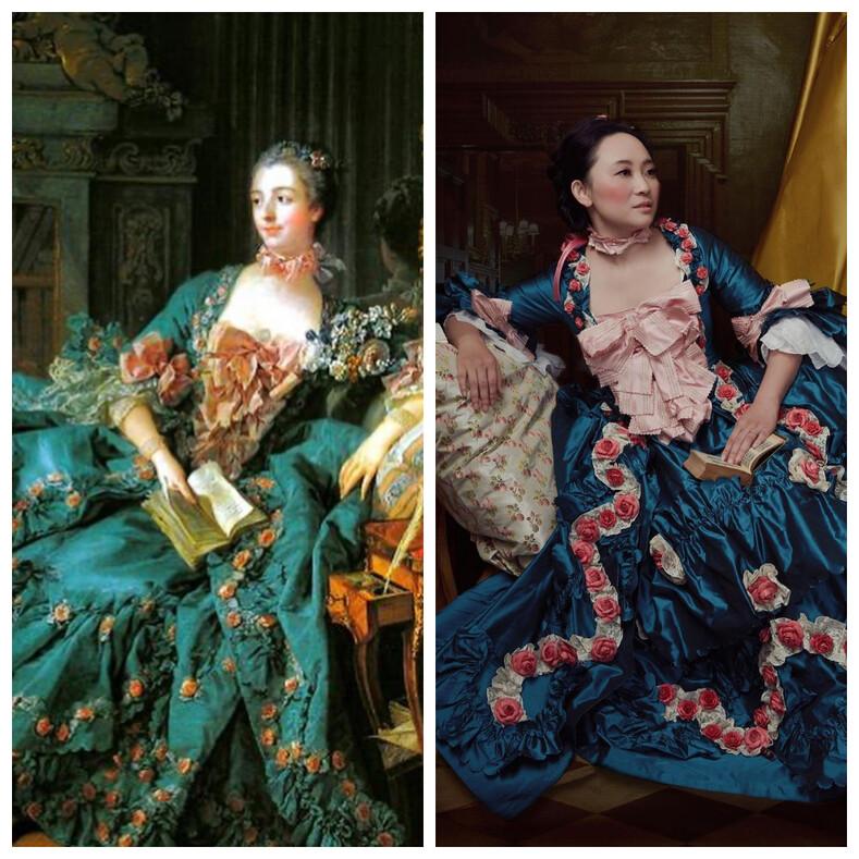 Анестезиолог шьет костюмы 18 века, тратя на каждый сотни часов, и ее работы настоящие шедевры с картин