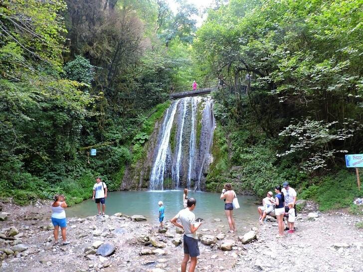 Один из Пшадских водопадов