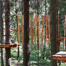 Веревочный парк эко-отеля «Романов лес»
