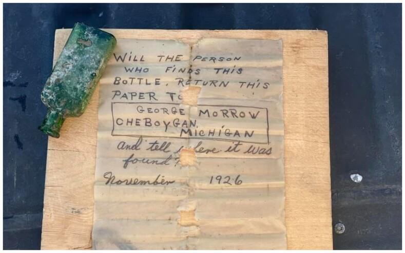 Дайвер нашла бутылку с посланием 95-летней давности: удалось разыскать дочь автора записки, которая поделилась подробностями