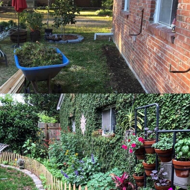 Из кучи грязи в райское местечко: пользователи показали, во что они превратили свой сад во время карантина (12 уютных снимков)