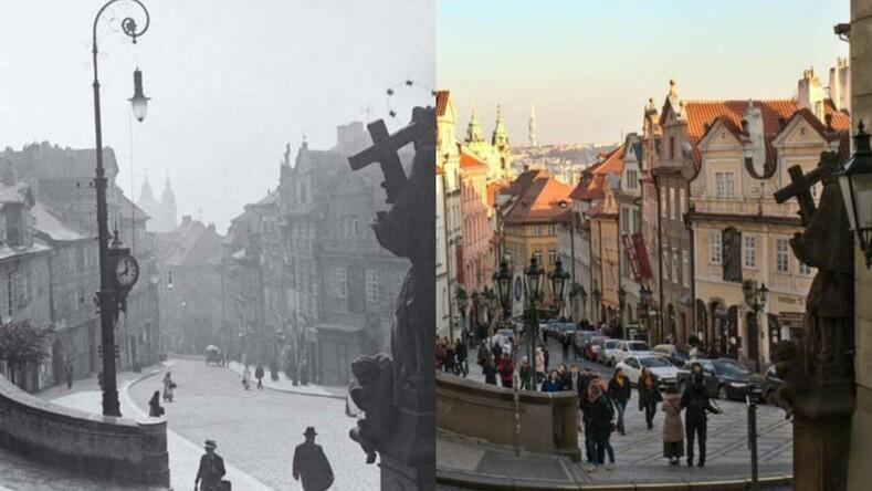 13 фотосравнений известных мест какими они были сто лет назад и как выглядят сейчас