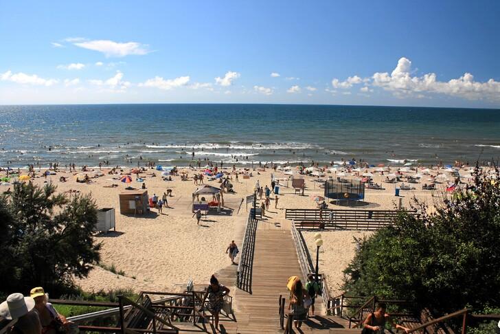 Пляж Янтарного
