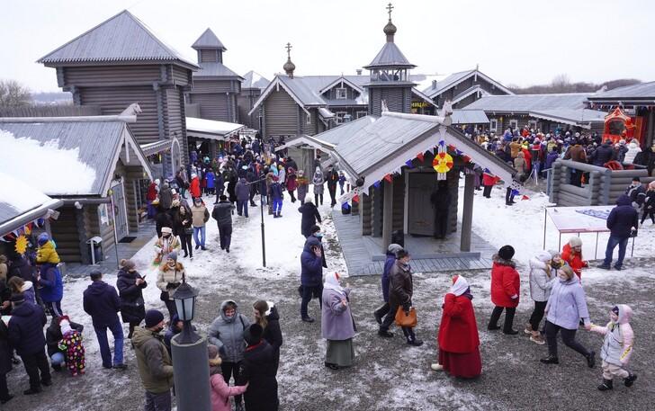 Город-крепость «Яблонов» в Масленицу