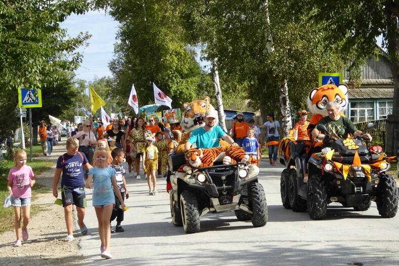 Карнавальное шествие на День тигра Фото Антона Семенова