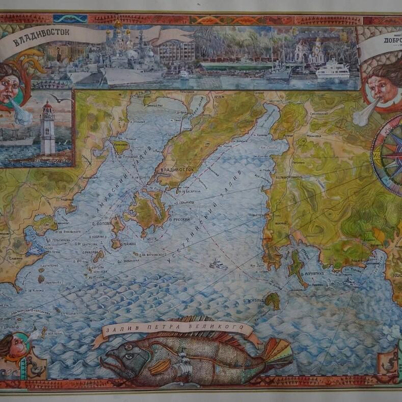 Полуостров Муравьева-Амурского. Картина Лидии Козьминой